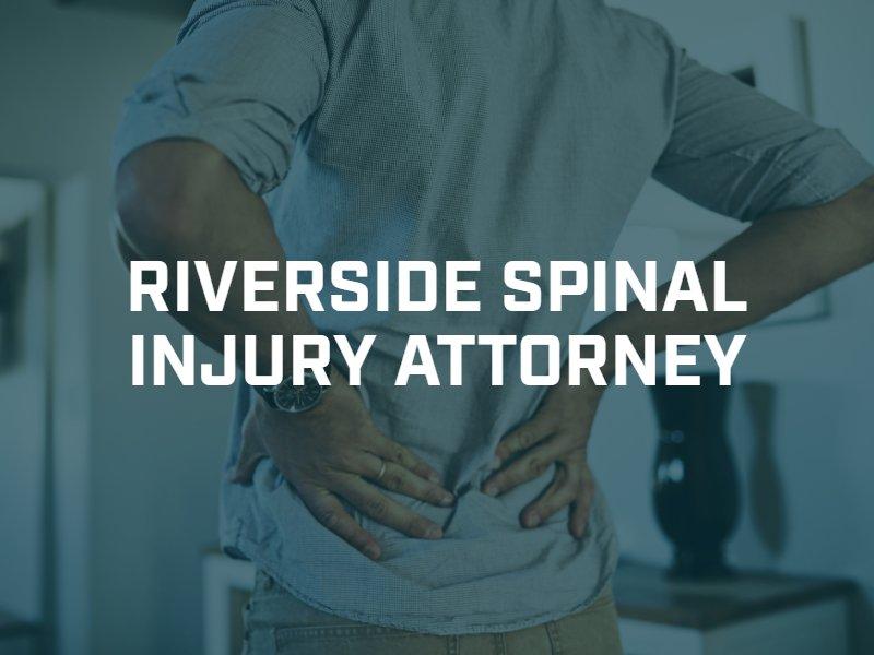 Riverside spinal cord injury lawyer