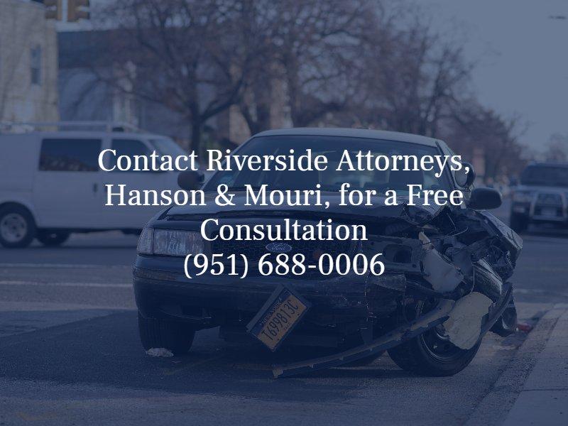riverside car accident attorneys hanson & mouri